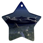 Skeleton Castaway and Shark Fantasy Ornament (Star)