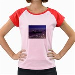 Skeleton Castaway and Shark Fantasy Women s Cap Sleeve T-Shirt