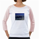 Skeleton Castaway and Shark Fantasy Girly Raglan