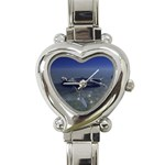 Skeleton Castaway and Shark Fantasy Heart Italian Charm Watch