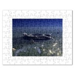 Skeleton Castaway and Shark Fantasy Jigsaw Puzzle (Rectangular)
