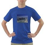 Skeleton Castaway and Shark Fantasy Dark T-Shirt