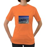 Skeleton Castaway and Shark Fantasy Women s Dark T-Shirt
