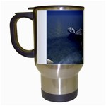 Skeleton Castaway and Shark Fantasy Travel Mug (White)