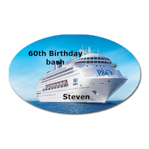 60th Birthday Bash By Trenleis Hotmail Com   Magnet (oval)   Ogip1d5n6tzj   Www Artscow Com Front