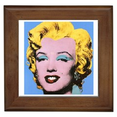 warhol Marilyn-Posters Framed Tile by bonniebeautyplanet