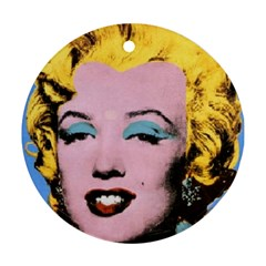 warhol Marilyn-Posters Ornament (Round) by bonniebeautyplanet