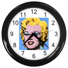 warhol Marilyn-Posters Wall Clock (Black) by bonniebeautyplanet