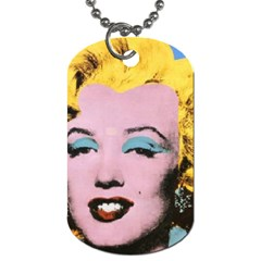 warhol Marilyn-Posters Dog Tag (One Side) by bonniebeautyplanet