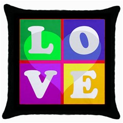 White Black Throw Pillow Case