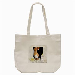 Wedding By Paula Green   Tote Bag (cream)   J9tk2nclpd6x   Www Artscow Com Front