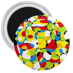 Interlocking Circles 3  Button Magnet by StuffOrSomething