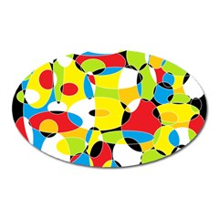 Interlocking Circles Magnet (oval) by StuffOrSomething