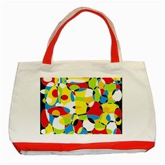 Interlocking Circles Classic Tote Bag (red) by StuffOrSomething