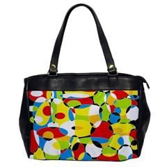 Interlocking Circles Oversize Office Handbag (one Side) by StuffOrSomething