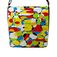 Interlocking Circles Flap Closure Messenger Bag (large) by StuffOrSomething