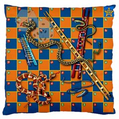 Snakes and Ladders Pillow Large Cushion Case (Two Sided)  by Contest1869921