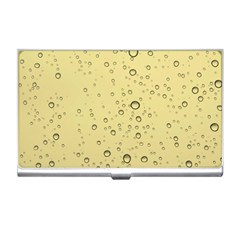 Yellow Water Droplets Business Card Holder