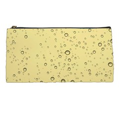 Yellow Water Droplets Pencil Case