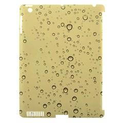 Yellow Water Droplets Apple iPad 3/4 Hardshell Case (Compatible with Smart Cover) by Colorfulart23