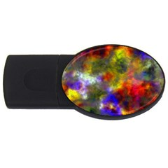 Deep Watercolors 2GB USB Flash Drive (Oval) by Colorfulart23