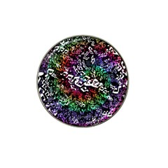 Urock Musicians Twisted Rainbow Notes  Golf Ball Marker 4 Pack (for Hat Clip) by UROCKtheWorldDesign