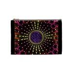 Hot Radiant Fractal Celtic Knot Cosmetic Bag (Medium)