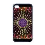 Hot Radiant Fractal Celtic Knot Apple iPhone 4 Case (Black)
