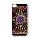 Hot Radiant Fractal Celtic Knot Apple iPhone 4 Case (White)