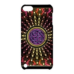 Urock Musicians Twisted Rainbow Notes  Apple Ipod Touch 5 Hardshell Case With Stand by UROCKtheWorldDesign