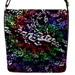 Urock Musicians Twisted Rainbow Notes  Flap Closure Messenger Bag (Small)