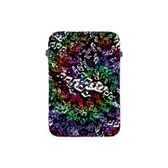 Urock Musicians Twisted Rainbow Notes  Apple Ipad Mini Protective Sleeve by UROCKtheWorldDesign