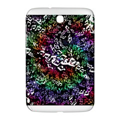 Urock Musicians Twisted Rainbow Notes  Samsung Galaxy Note 8 0 N5100 Hardshell Case  by UROCKtheWorldDesign
