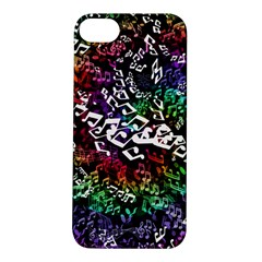 Urock Musicians Twisted Rainbow Notes  Apple Iphone 5s Hardshell Case by UROCKtheWorldDesign