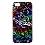 Urock Musicians Twisted Rainbow Notes  iPhone 5S Premium Hardshell Case