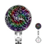 Urock Musicians Twisted Rainbow Notes  Stainless Steel Nurses Watch