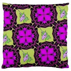 Pink Unicorn Large Cushion Case (Two Sided)  by Contest1852090