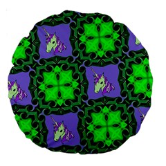 Green Unicorn 18  Premium Round Cushion