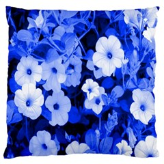 Blue Flowers Large Cushion Case (single Sided)