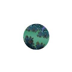 Celtic Symbolic Fractal Design in Green 1  Mini Button Magnet