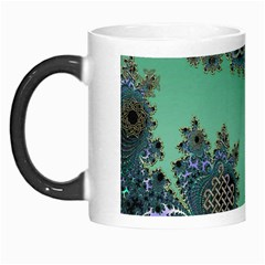 Celtic Symbolic Fractal Design In Green Morph Mug by UROCKtheWorldDesign