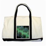 Celtic Symbolic Fractal Design in Green Two Toned Tote Bag
