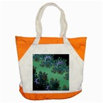 Celtic Symbolic Fractal Design in Green Accent Tote Bag