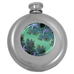 Celtic Symbolic Fractal Design in Green Hip Flask (Round)