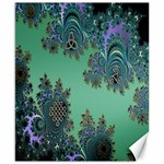 Celtic Symbolic Fractal Design in Green Canvas 8  x 10  (Unframed)