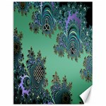 Celtic Symbolic Fractal Design in Green Canvas 12  x 16  (Unframed)