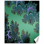 Celtic Symbolic Fractal Design in Green Canvas 16  x 20  (Unframed)