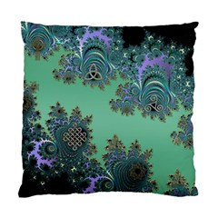 Celtic Symbolic Fractal Design In Green Cushion Case (single Sided)  by UROCKtheWorldDesign