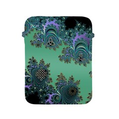 Celtic Symbolic Fractal Design In Green Apple Ipad Protective Sleeve by UROCKtheWorldDesign