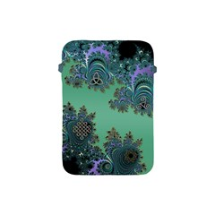 Celtic Symbolic Fractal Design In Green Apple Ipad Mini Protective Sleeve by UROCKtheWorldDesign